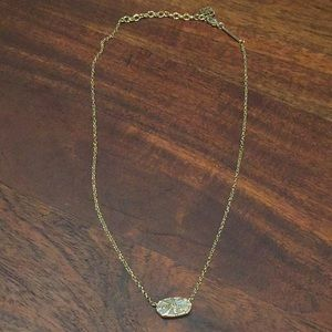 Kendra Scott Jewelry - Kendra Scott Elisa Necklace Gold Iridescent &Drusy